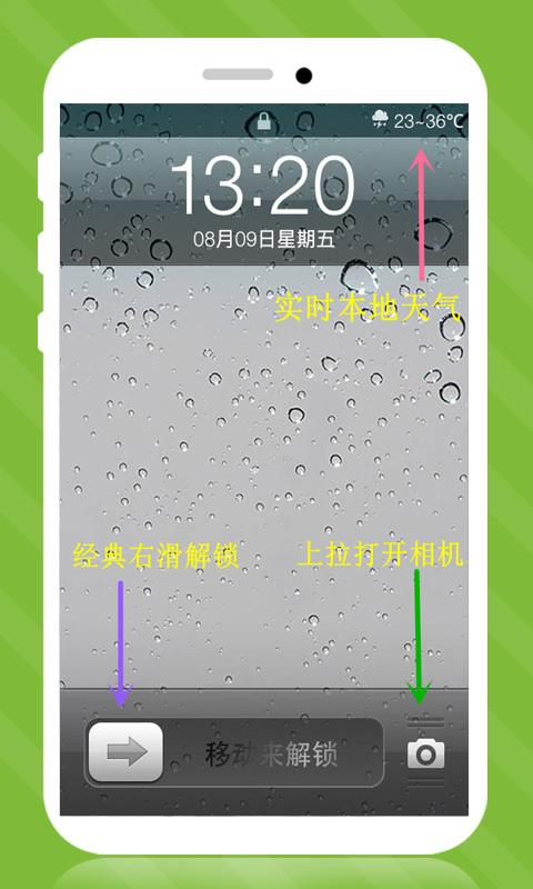 iPhone6s雨滴锁屏