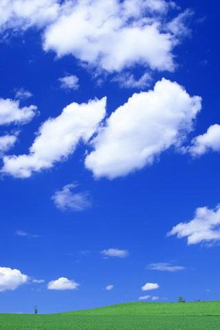 蓝天白云背景竖版 图片合集