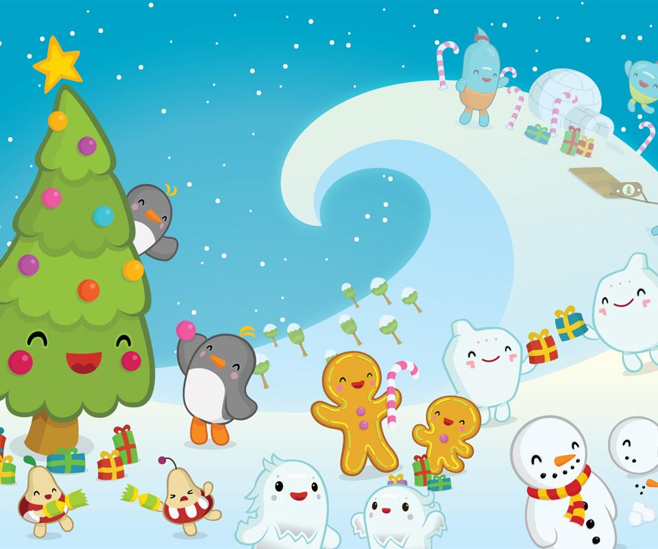 圣诞快乐安卓手机壁纸下载-安卓网