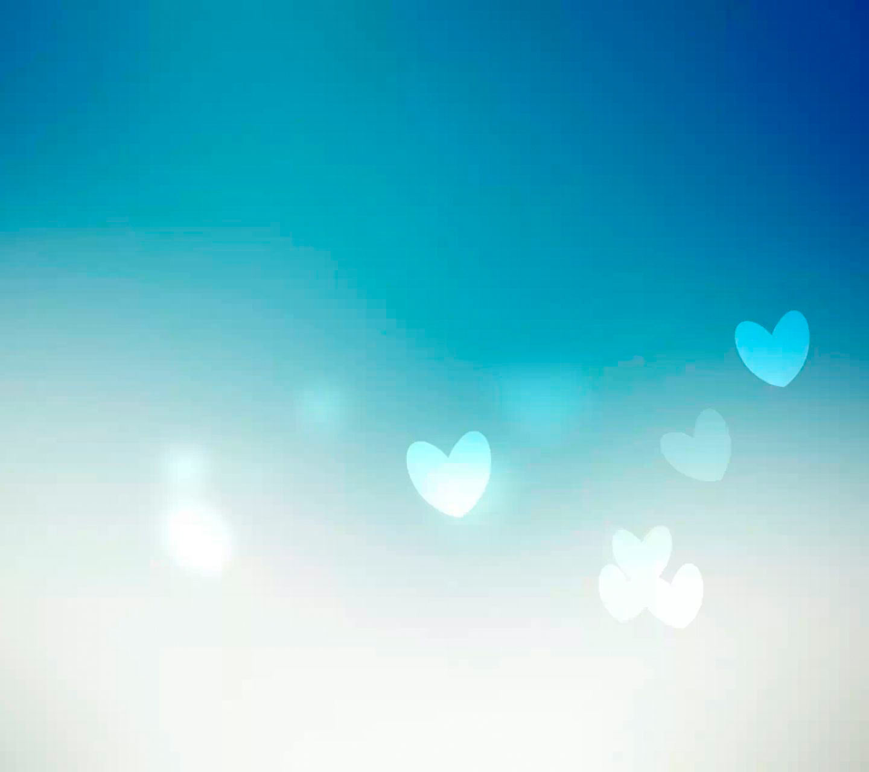 简约蓝色 爱心