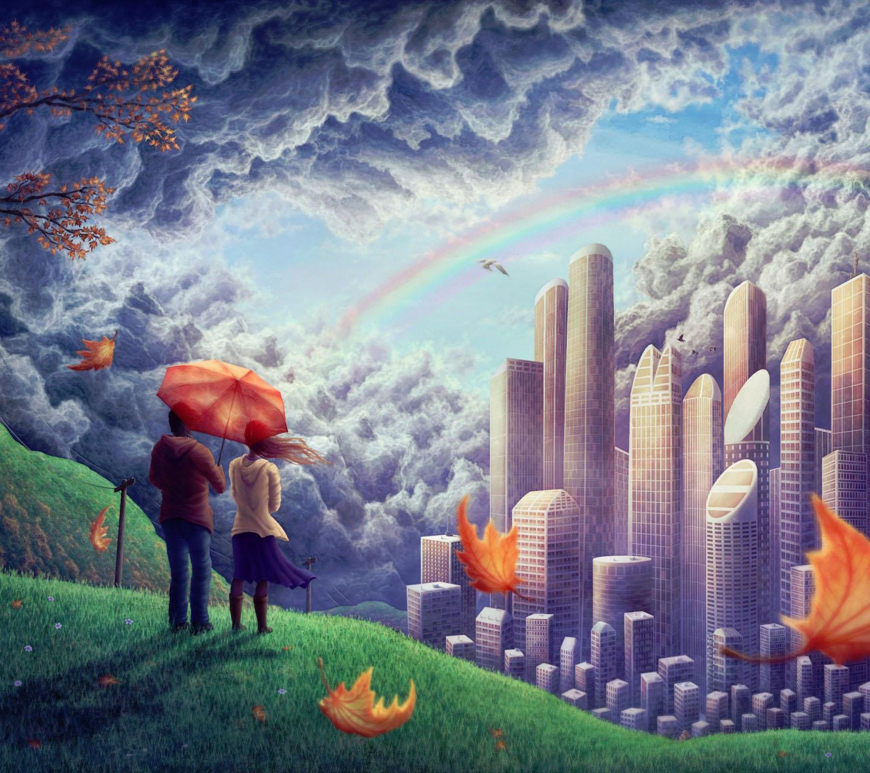 手绘城市安卓手机壁纸下载-安卓网