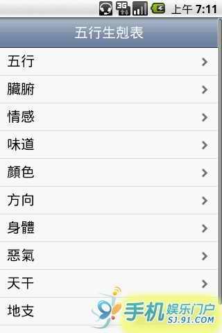 中国文化之精粹-五行生剋表