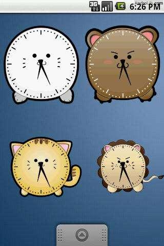 超可爱老虎时钟 Cute Tiger Clock Widget 2x2