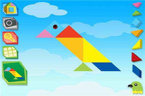 七巧板拼图:鸟类 swipea tangram puzzles: birds图片