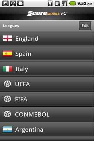 ScoreMobile FC Euro 2012