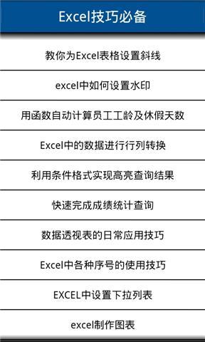Excel技巧大全