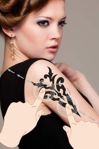 并选择一个部落纹身,缩放/旋转以适合科目的脸,手臂,背部等.