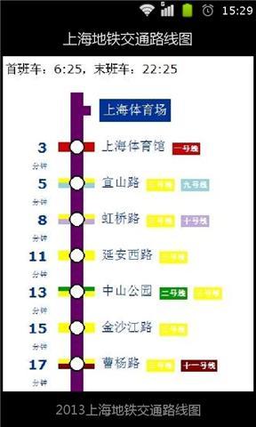 上海地铁交通路线图