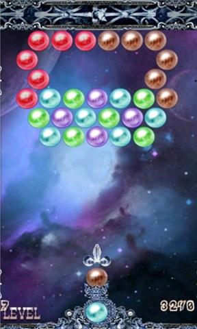 这款华丽版泡泡龙是唯一一款包含普通模式和街机模式的游戏.