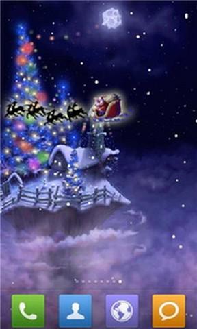 圣诞雪幻想动态壁纸