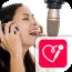 Red Karaoke星和记录。唱卡拉OK免费共享与您的视频。与播放和歌词唱
